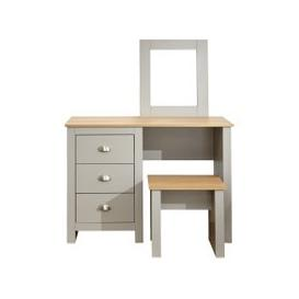 image-Lancaster Dressing Table Set Grey and Brown