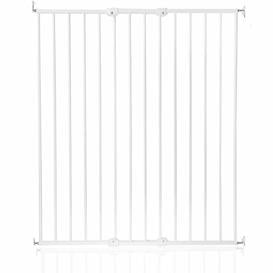 image-Tall Screw Fitted Baby Stair Safety Gate Symple Stuff Colour: White