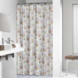 image-Sealskin Shower Curtain Happy Larry Colour: Sand