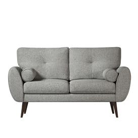 image-Swoon Egle Two-Seater Sofa in Tan Smart Leather With Light Feet