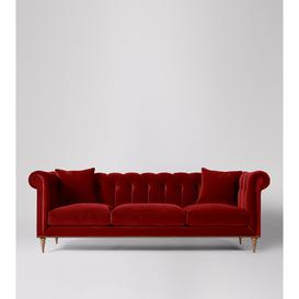 image-Swoon Milward Four-Seater Sofa in Rouge Easy Velvet With Light Feet