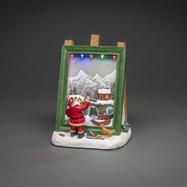 "image-""Santa Painting Christmas Scene Figurine Konstsmide"""