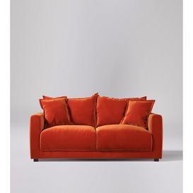 image-Swoon Aurora Two-Seater Sofa in Burnt Orange Easy Velvet