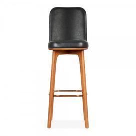 image-Dewalt 75cm Bar Stool Corrigan Studio Colour (Upholstery): Black