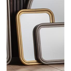 image-Gallery Eindhoven Brass Small Wall Mirror