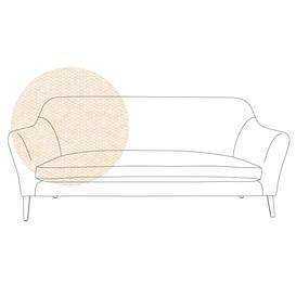 image-Heal's Wallis 4 Seater Sofa Cotton Grain Walnut Feet