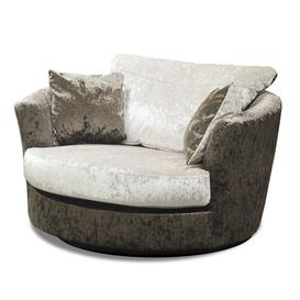 image-Swivel Tub Chair Willa Arlo Interiors Upholstery: Brown/Oyster