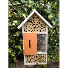 image-Insect Hotel Mounted Butterfly House Symple Stuff Colour: White/Orange