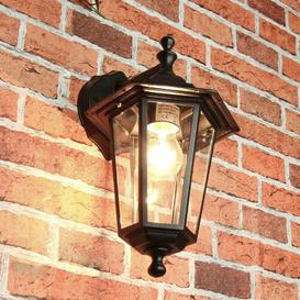 image-Lucy Outdoor Wall Lantern Marlow Home Co. Frame Colour: Black