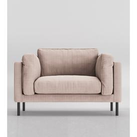 image-Swoon Munich Love Seat in Blush House Weave