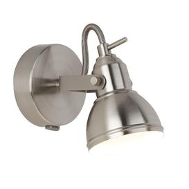 image-Searchlight 1541SS Focus One Light Wall Spotlight In Satin Silver
