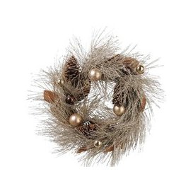 image-Libra Pinecone Gold Wreath - Xmas-18
