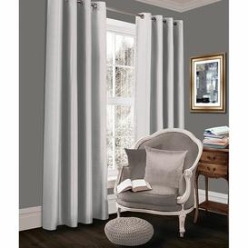 image-Geise Grommet Eyelet Room Darkening Thermal Curtains Brayden Studio Colour: Silver, Size per Panel: 167 W x 229 D cm