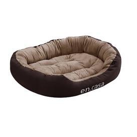 image-Elverton Dog Bed with Cushion Archie & Oscar Size: Large: 23cm H x 85cm W x 70cm D, Colour: Brown