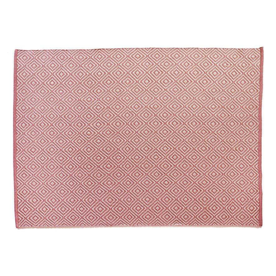 image-Diamond Reversible Rug 120 x 170cm, Coral