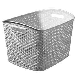 image-Curver 28L Grey Basket Grey