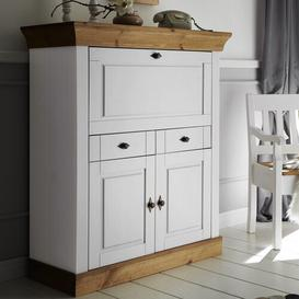 image-Kelly Secretary Desk August Grove Colour/Finish: Stained and varnished white/Brown