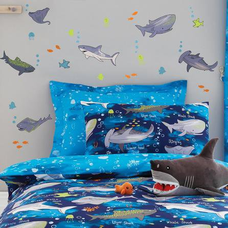 image-Sharks Wall Stickers Blue