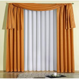 image-Longoria Tab top Room Darkening Single Curtain Mercury Row Size: 225cm L x 135cm W, Colour: Orange
