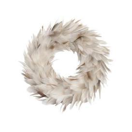 image-Libra Feather Grey Small Wreath - Xmas-19