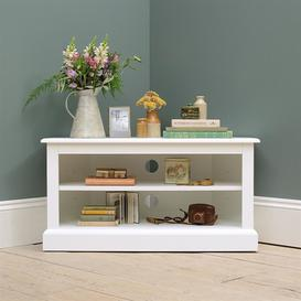 image-Burford Warm White Corner TV Unit - Up to 40""