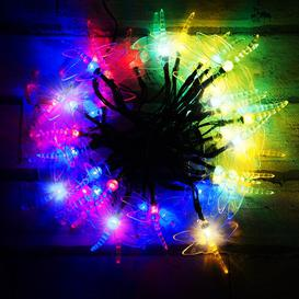 image-50 Multicolour LED Dragonfly Solar Fairy Lights OE Lights