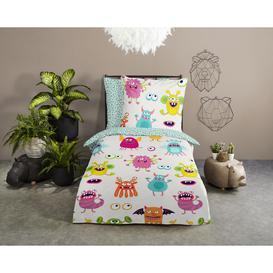 image-Bed linen 120x150 Kids East Urban Home No.30067 Multi in , 100 x 135cm - 1 Pillowcase (60 x 70 cm)