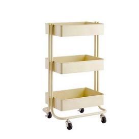 image-3-Tier Storage Utility Cart Symple Stuff Finish: Vanilla
