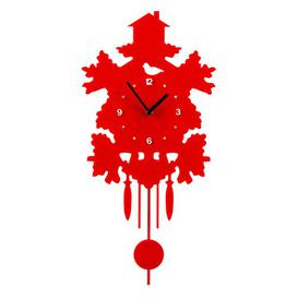 image-Pendulum Wall Clock Mercury Row Colour: Red
