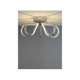 image-John Lewis & Partners Teardrop LED Semi Flush Ceiling Light, Chrome