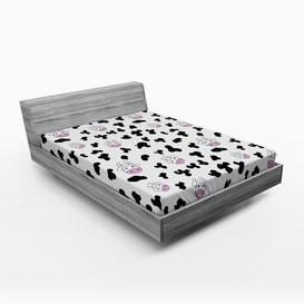 image-Cow Print 450 Thread Count 100% Polyester Fitted Sheet East Urban Home Size: European Kingsize (160 x 200cm)