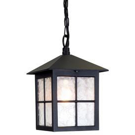 image-Elstead BL18B Winchester exterior Black hanging porch lantern, IP43