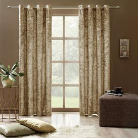image-Banks Eyelet Room Darkening Curtains Rosdorf Park Colour: Mustard Brown, Size per Panel: 168 W x 228 D cm