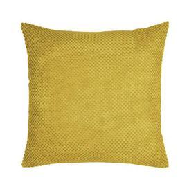 image-Chenille Spot Cushion Yellow