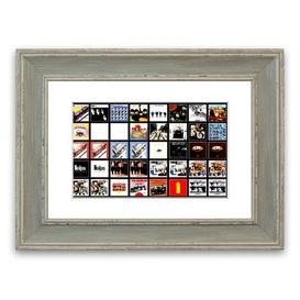 image-'The Beatles Album Cover Cornwall' - Picture Frame Photograph Print on Paper East Urban Home Size: 30cm H x 40cm W x 1cm D, Frame Option: Blue