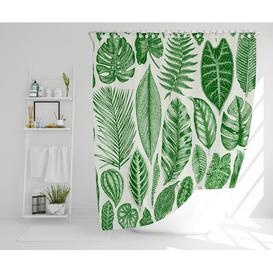 image-Meleri Polyester Shower Curtain Set Bay Isle Home Size: 177cm H x 177cm W