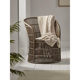 image-NEW Round Rattan Occasional Chair