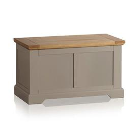 image-Natural Solid Oak & Grey Paint Blanket Boxes - Blanket Box - St. Ives Range - Oak Furnitureland