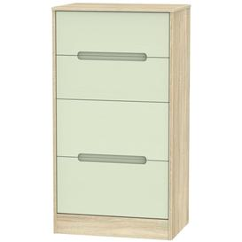 image-Monaco 4 Drawer Deep Midi Chest - Mussel and Bardolino