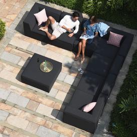 image-Maze Lounge Outdoor Fabric Apollo Charcoal Large Corner Group Sofa Set