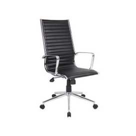 image-Bari High Back Executive Chair, Black, Free Next Day Delivery