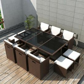 image-Bannister 10 Seater Dining Set with Cushions