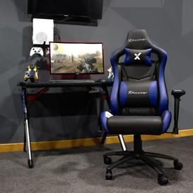image-Merlin Gaming Chair X Rocker Colour: Blue/Black