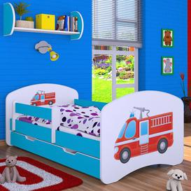 image-Manus Cot Bed / Toddler (70 x 140cm) Bed Frame with Drawer Isabelle & Max Colour (Bed Frame): Blue