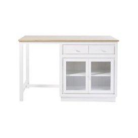 image-White 2-Door 6-Drawer Kitchen Island Embrun