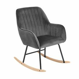 image-Ines Rocking Chair Canora Grey Colour: Grey