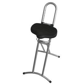 image-Height-adjustable office stool Symple Stuff Frame Colour: Silver