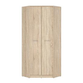 image-Roark 2 Door Corner Wardrobe Natur Pur Finish: White