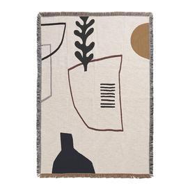 image-Ferm Living - Mirage Blanket - Off White