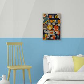 image-WPA Toy Sale Vintage Advertisement on Canvas Big Box Art Size: 60cm H x 40cm W
